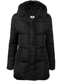 Women's Hooded Packable Puffer Down Jacket Winter Parka Coat Black