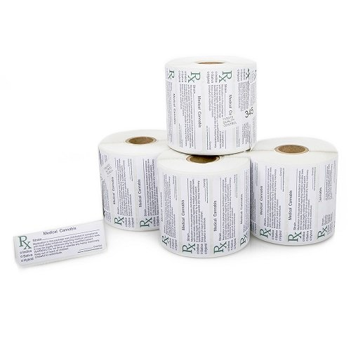 (1-48 Pack) Medical Marijuana Labels - 1000 Piece Roll 2018 Medical Cannabis Labels |Dispensary Labels California Medical Marijuana Compliant Labels Weed Labels Rx Labels MM SUPPLIES (1 Pack) (Sell Weed)