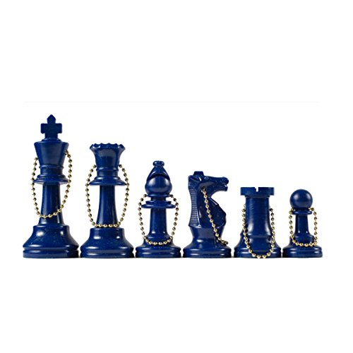 Wholesale Chess - Chess Pieces Keychain Set (Blue)