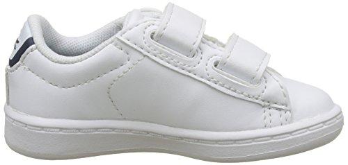 Lacoste Sport Carnaby EVO BL 1 SPI, Zapatillas para Niños Blanco (Wht/Nvy)