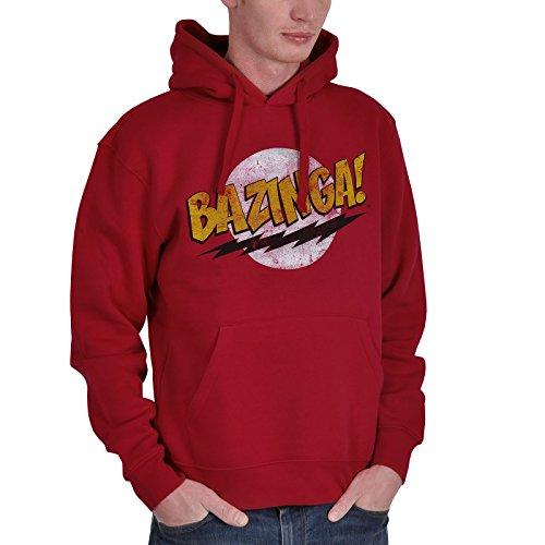 Big Bang Theory - Felpa con cappuccio con motivo Bazinga - Rosso