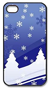 iphone 4 case thinnest Vector Christmas Design PC Black for Apple iPhone 4/4S