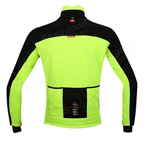 Bazaar Santic mens veste de bicyclette longue manche allant à vélo le jersey allant à vélo la toison de vêtements vert imperméable au vent