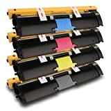 Konica Minolta Compatible Remanufactured Combo Pack for 2400W, 2430DL, 2450, 2500W, 2530DL Printers – 1 Black, 1 Cyan, 1 Magenta, 1 Yellow High Yield Toner Cartridge, Office Central