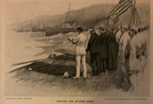 (1899 Spanish American War Battleships Iowa and Indiana at Santiago)