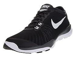 Nike Womens Flex Supreme Tr 4 Cross Trainer Blackwhiteanthracitestealth 8 ...