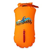Swim Buddy Swim Buoy - Swim Safety Float for Open Water Swim Training for triathletes, swimming, kayaking. Light and extremely visible, superior puncture resistant.