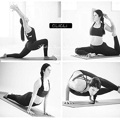 CLICLI Women's Criss Cross Padded Sports Bra Strappy Back Workout Running Yoga Bra at Women's Clothing store