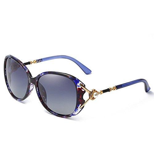 Lunettes loisirs de Gris 6 de personnalité Progressivement soleil soleil Shop pour de soleil pour Cadre Lunettes perle lunettes Bleu polarisées de de femmes lunettes de femmes C5q1naWF1