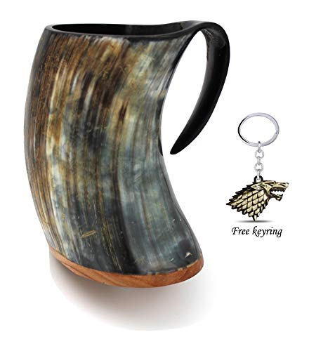 Genuine Viking Drinking Horn Mug Tankard handcrafted and polished finished | 20 Ounces
