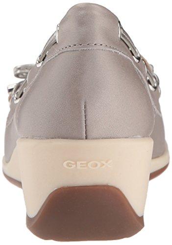 Arethea Grey D AMocassinsloafersFemme off Geox White Grislt jq54RSc3AL