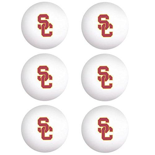 Usc trojans wincraft 6 pack table tennis balls for 1 gross table tennis balls