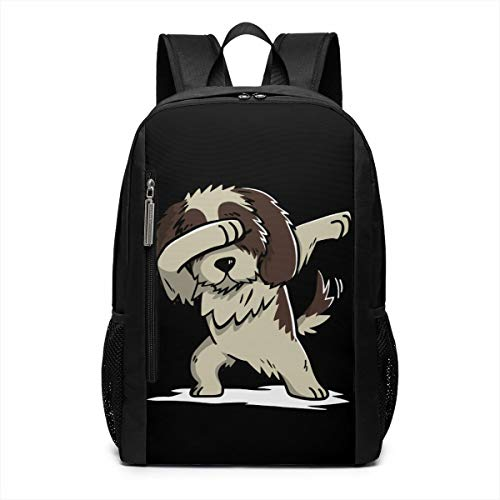 Dabbing Shih Tzu Funny Unique Outdoor Shoulders Bag Fabric Backpack Multipurpose Daypacks For Adult Kids ()