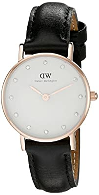 Daniel Wellington Women's 0901DW Sheffield Analog Quartz Black Leather Watch