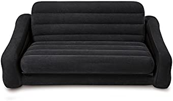 Intex Pull Out Sofa - Sofá (Negro, Negro)
