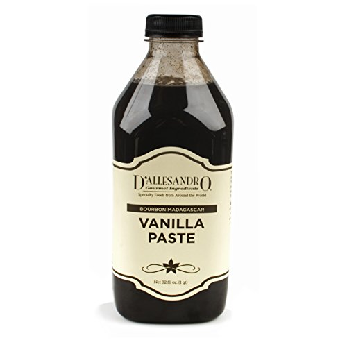 Madagascar Vanilla Paste by D'Allesandro, 1 Qt Bottle