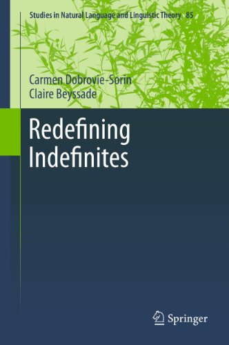 Redefining Indefinites: 85 (Studies in Natural Language and Linguistic Theory) Pdf