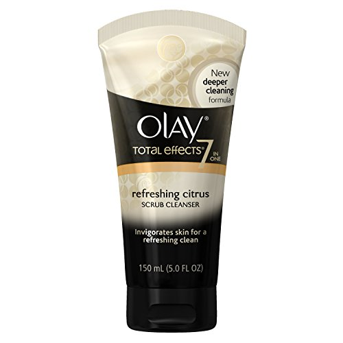 Wash Olay Face (Olay Total Effects Refreshing Citrus Scrub Face Cleanser, 5 Ounce  Packaging may Vary)