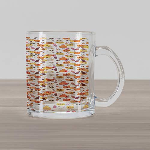 Halloween Inspired Coffee Drinks - Ambesonne Ghost Glass Mug, Cartoon Pattern