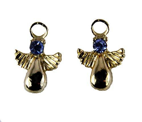 6030331 December Rhinestone Birth Month Angel Earrings Guardian Angel On My Shoulder Unaware Volunteer Secret Angel Made in ()