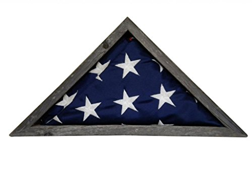 - Solid Walnut Flag Case for 3 x 5' Nylon Flag, Military Missions/State Capital Size, USA Made