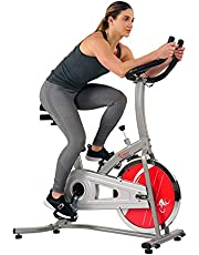 Sunny Health & Fitness Indoor Exercise Stationary Bike with Digital Monitor and 22 LB Chromed Flywheel