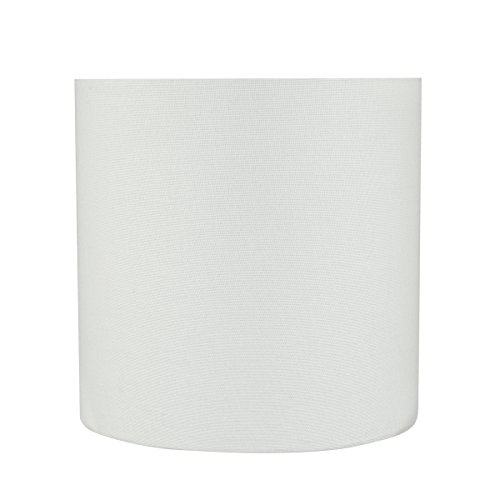 Aspen Creative 31227 8'' Wide (8'' x 8'' x 8'') Transitional Drum Cylinder Shaped Spider Construction Lamp Shade, White by Aspen Creative
