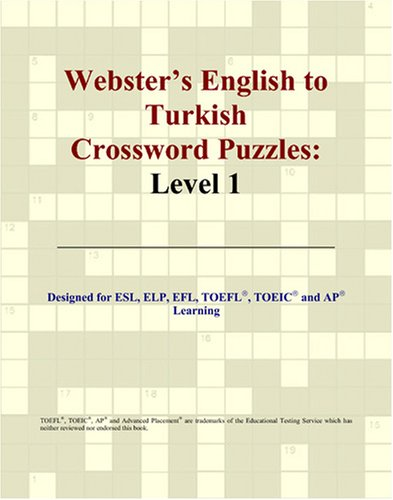 Download Webster's English to Turkish Crossword Puzzles: Level 1 pdf epub
