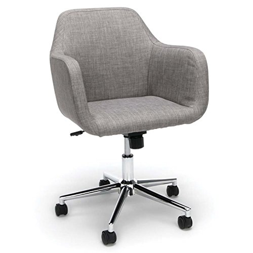 Essentials ESS-2085-GRY Upholstered Home Office Chair – Ergonomic Desk Chair with Arms for Conference Room or Office, Gray