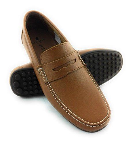Zerimar Mocasin de Piel Para Hombre Zapatos Hombre Mocasines Calzado Hombre Vestir Color Camel Talla 42: Amazon.es: Zapatos y complementos