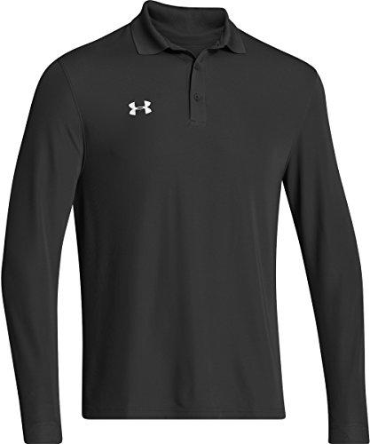 Under Armour Men's UA Performance Long Sleeve Polo Medium Black