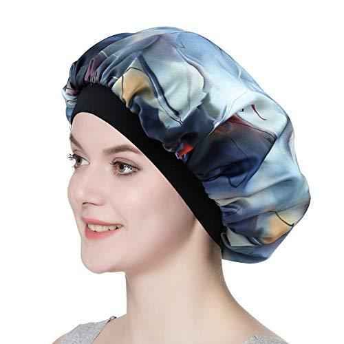 (Premium Satin Bonnet Women Headwear Night Sleeping Cap Long Hair Styling Hat )