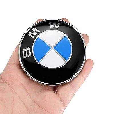 OSIRCAT Emblem for BMW- Replacement Hood or Trunk Emblem Logo Front 82mm Rear 74mm For BMW E30 E36 E34 E60 E65 E38 X3 X5 X6 3-Series 5-Series 6-Series 7-Series: Automotive