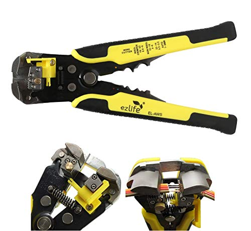 EZ Life Self-Adjusting Automatic Cable Cutter Crimper with 5 in 1 Multi-Tool Wire Stripping Cutting Pliers, 10-24 AWG, Large (Yellow) Price & Reviews