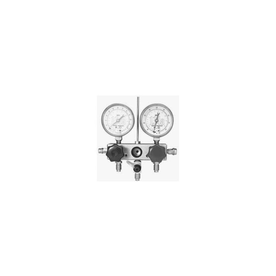 TIF 4580A Manifold Gauge Set with Hoses and Glycerine Filled Gauges   R134a, 2 Way