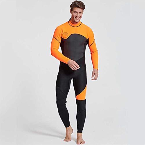Dive NANVH Men Women Neoprene Wetsuit Swimsuit Equipment for Diving Swimming Surfing Suit Wetsuits Orange XL