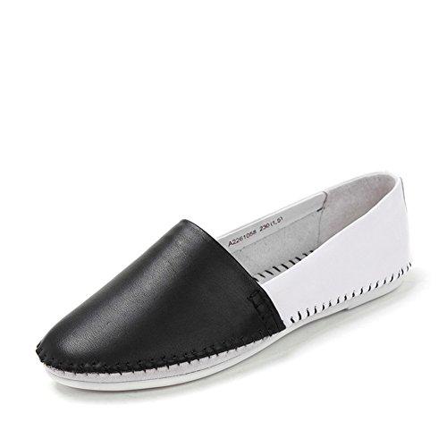 Round resorte de dedo del pie/Zapatos de pies planos/Zapatos de mujer Negro