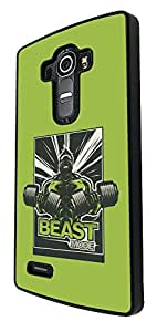 747 - Beast Mode Gym Body Builder Design For LG G2 Fashion Trend CASE Back COVER Plastic&Thin Metal