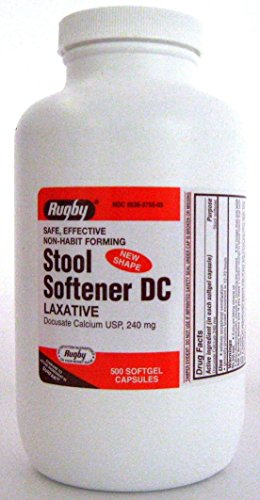 RUGBY® STOOL SOFTENER LAXATIVE DC DOCUSATE CALCIUM USP, 240MG 500CT *Compare to the same active ingredients in Surfak® & SAVE!!!* ()