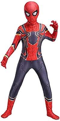 RNGNBKLS Disfraz De Spiderman Infantil Fiesta De Halloween Cosplay Fiesta Disfraces Traje De Superhéroe Superhéroe Spandex/Lycra,A-120(110-119cm)