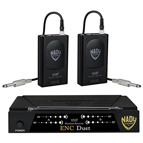 Nady ENC DUET Wireless Dual Channel Instrument / Guitar System with 2 Wireless Guitar Transmitters -