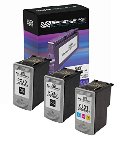 Speedy Inks Remanufactured Ink Cartridge Replacement for Canon PG30 & CL31 (2 Pigment Black, 1 Color, 3-Pack)