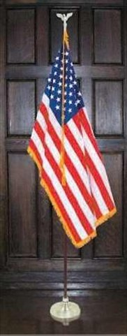 Flag Outfit - American - Indoor - 3x5 Flag+8 Ft - Mall Fl Stores