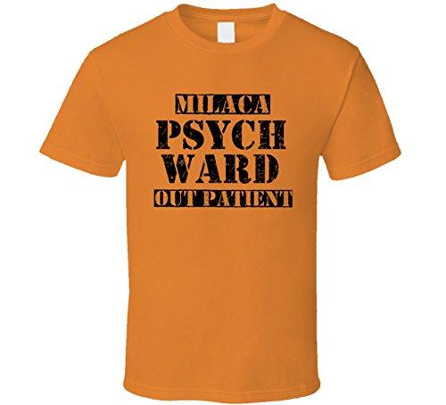 Milaca Minnesota Psych Ward Funny Halloween City Costume T Shirt M Orange