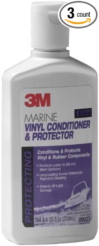 3M 3 X Marine Vinyl Cleaner, Conditioner, Protector (8.4-Ounce)