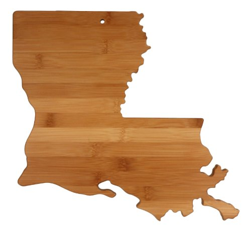 "Totally Bamboo State Cutting & Serving Board – ""LOUISIANA"", 100% Organic Bamboo Cutting Board for Cooking, Entertaining, Décor and Gifts. Designed in the USA!"