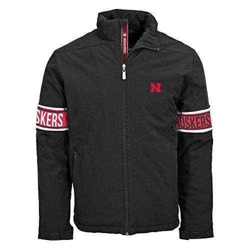 Insulated Jacket Tundra (Levelwear NCAA Nebraska Cornhuskers Adult Men Tundra Team Text Jacket,M,Black)