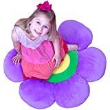 Flower Pillow to be Used as Floor Pillow or Decorative Pillow - Adorable Daisy Flower Shape and Color Purple - Large, Soft and Cozy Pillow for Floor Sitting, Playtents, Girls Bedroom Decor