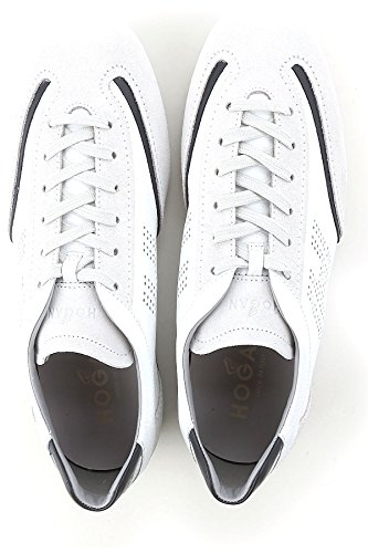 Hogan Sneakers Olympia Man In Leer En Suède Mod. Witte Hxm0520g752ifw0pbv