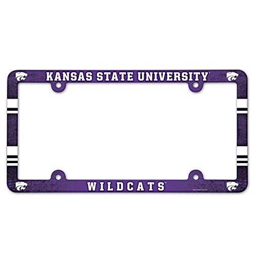 NCAA License Plate with Full Color Frame, Kansas State - University Gifts State Kansas